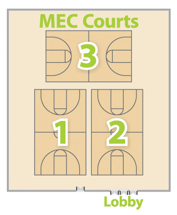 MEC Court Schedule Layout