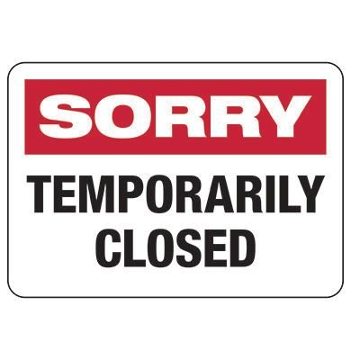 Closed for facility maintenance – Aug 23rd – Sept 1